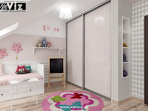 Pokój dla dziewczynki. Pokój dla ucznia. - zdjęcie od ARTVIZ Pracownia Projektowa