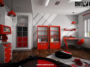 Pokój - salon - warsztat  samochodowy dla chłopca