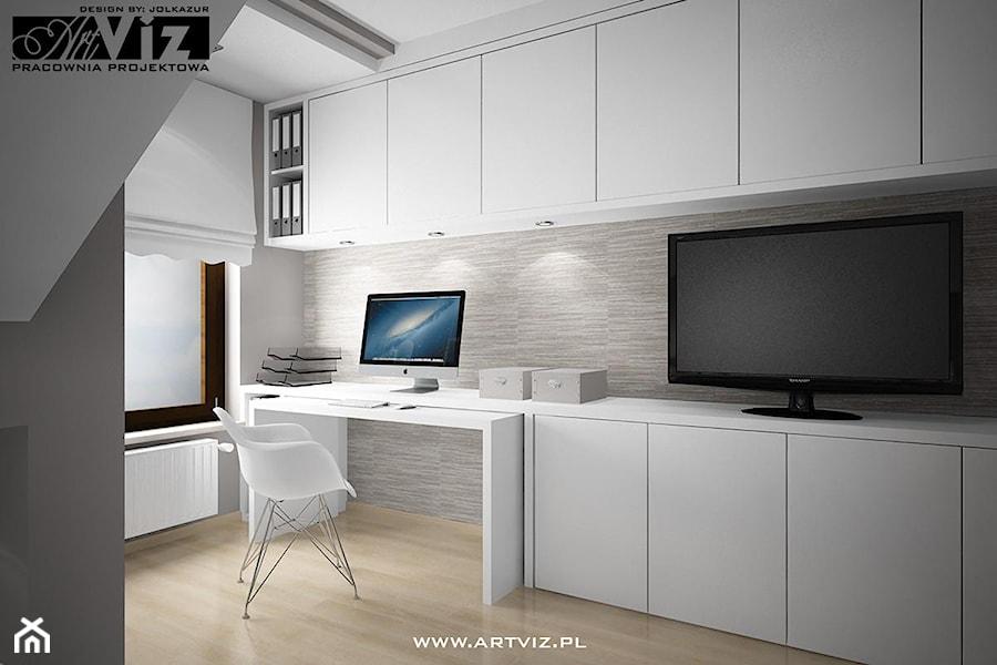 Sypialnia z miejscem do pracy/nauki - zdjęcie od ARTVIZ Pracownia Projektowa
