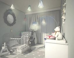 POZNAŃ - Mały szary pokój dziecka dla chłopca dla dziewczynki dla niemowlaka, styl eklektyczny - zdjęcie od STUDIO ARCHITEKTURY EMILIA SZCZUDLO SKORUPSKA