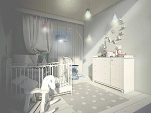 POZNAŃ - Średni szary pokój dziecka dla chłopca dla dziewczynki dla niemowlaka, styl eklektyczny - zdjęcie od STUDIO ARCHITEKTURY EMILIA SZCZUDLO SKORUPSKA