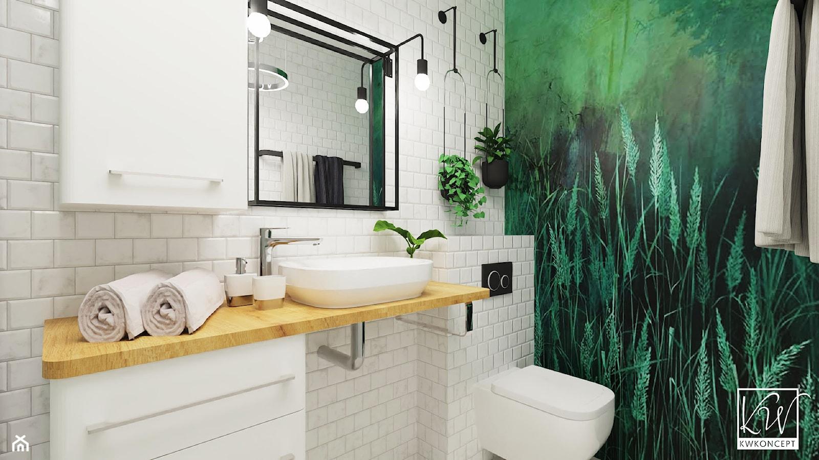 Zielona łazienka - zdjęcie od KWKONCEPT - Homebook