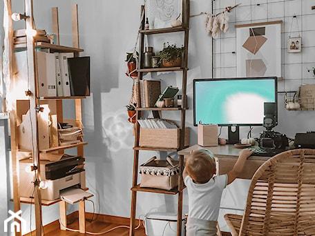 Aranżacje wnętrz - Biuro: DOMOWE BIURO Nasze Domowe Pielesze - Nasze Domowe Pielesze. Przeglądaj, dodawaj i zapisuj najlepsze zdjęcia, pomysły i inspiracje designerskie. W bazie mamy już prawie milion fotografii!
