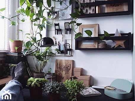 Aranżacje wnętrz - Biuro: Domowe Biuro, kącik pracy Nasze Domowe Pielesze - Nasze Domowe Pielesze. Przeglądaj, dodawaj i zapisuj najlepsze zdjęcia, pomysły i inspiracje designerskie. W bazie mamy już prawie milion fotografii!