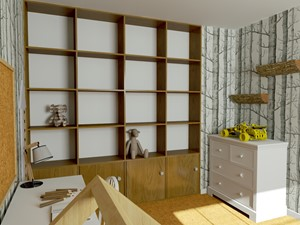 Pokój dziecka w modernistycznym mieszkaniu - leśny pokój - zdjęcie od Urszula Karasiewicz