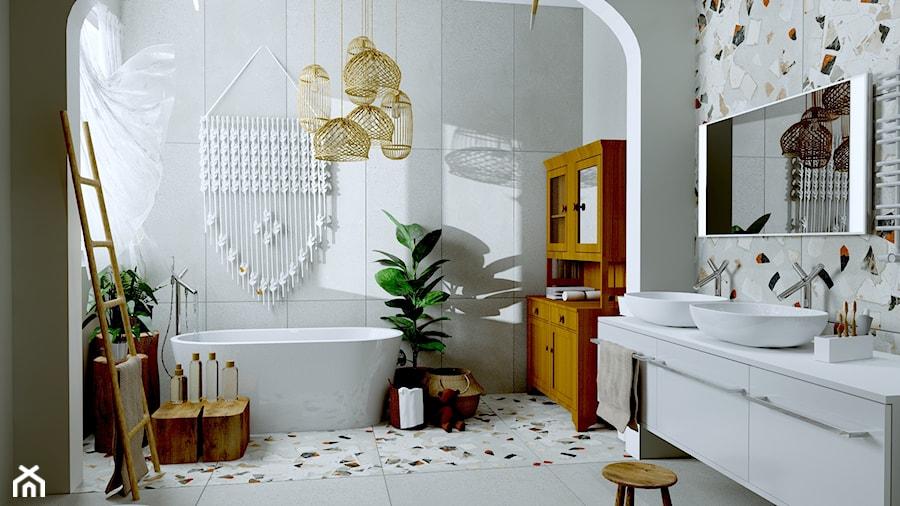 Łazienka z dala od miejskiego tłoku - zdjęcie od Urszula Karasiewicz
