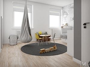 Mieszkanie Ochota - Średni biały pokój dziecka dla chłopca dla ucznia dla malucha, styl minimalistyczny - zdjęcie od ZKA architekci