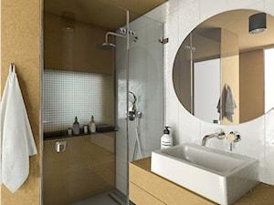 Podstawa do zamieszkania - Średnia biała brązowa łazienka z oknem, styl nowoczesny - zdjęcie od Kuba Krysiak
