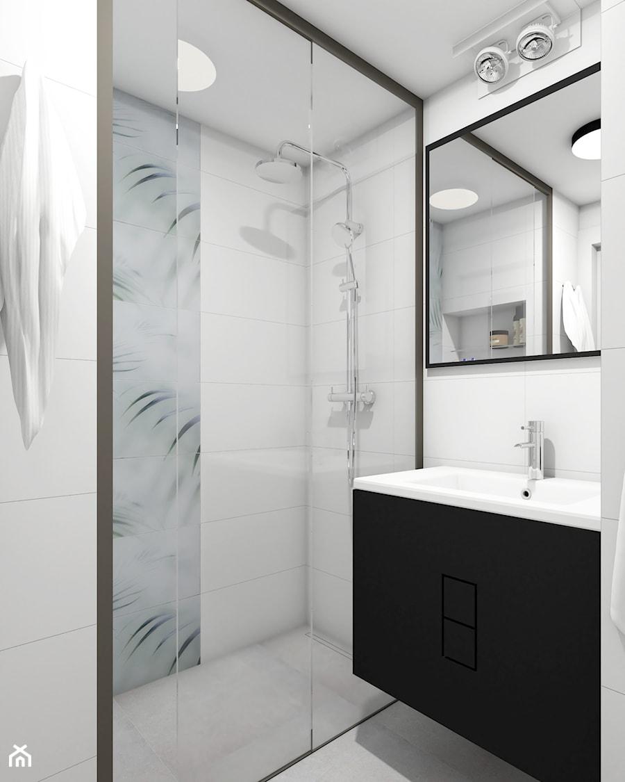 MINI-MAXI URBAN JUNGLE - Średnia biała łazienka bez okna, styl nowoczesny - zdjęcie od PauLatocha
