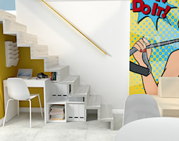 Domowe+biuro%2C+pod+schodami+-+zdj%C4%99cie+od+joannabrewka%40o2.pl