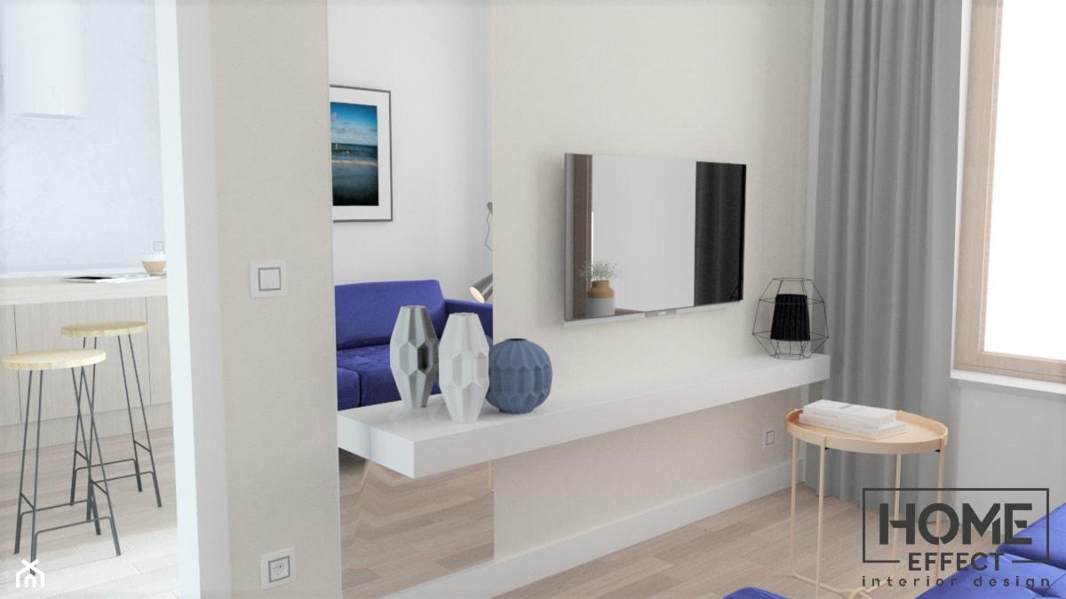 sypialnia 1 z granatowymi akcentami - zdjęcie od Home Effect - Homebook
