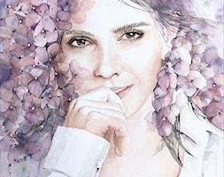 Emma+w+kwiatach+-+akwarela%2C+orygina%C5%82+0124+-+zdj%C4%99cie+od+Anna+Lipowska+Art