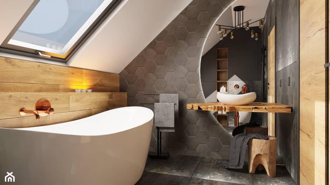 Łazienka na poddaszu. - zdjęcie od Minedecor - Homebook