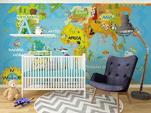 Kolorowa fototapeta mapa dla dzieci - Myloview - zdjęcie od myloview.pl