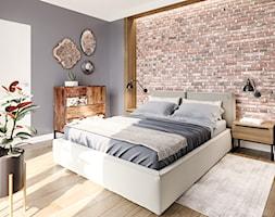 Na Bemowie - Duża szara sypialnia małżeńska, styl nowoczesny - zdjęcie od M!kaDesign - Homebook