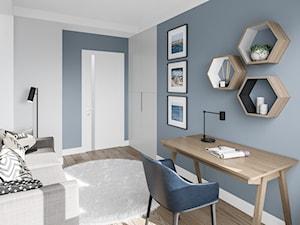 Na Bemowie w stylu skandynawskim - Średni biały szary pokój dziecka dla ucznia dla nastolatka, styl skandynawski - zdjęcie od M!kaDesign
