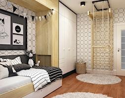 Elegancki Ursynów - Średni szary pokój dziecka dla chłopca dla nastolatka, styl nowoczesny - zdjęcie od M!kaDesign