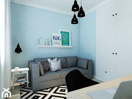 Aranżacje wnętrz - Pokój dziecka: Między czernią a bielą - Mały niebieski pokój dziecka dla chłopca dla dziewczynki dla nastolatka, styl eklektyczny - M!kaDesign. Przeglądaj, dodawaj i zapisuj najlepsze zdjęcia, pomysły i inspiracje designerskie. W bazie mamy już prawie milion fotografii!