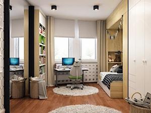 Elegancki Ursynów - Średni szary pokój dziecka dla chłopca dla dziewczynki dla ucznia dla malucha dla nastolatka, styl nowoczesny - zdjęcie od M!kaDesign