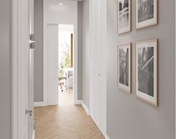Mokotów z romantyczna nutą - Średni szary hol / przedpokój, styl eklektyczny - zdjęcie od M!kaDesign