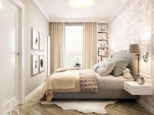 Stylowo na Woli - Mała kolorowa sypialnia małżeńska, styl eklektyczny - zdjęcie od M!kaDesign