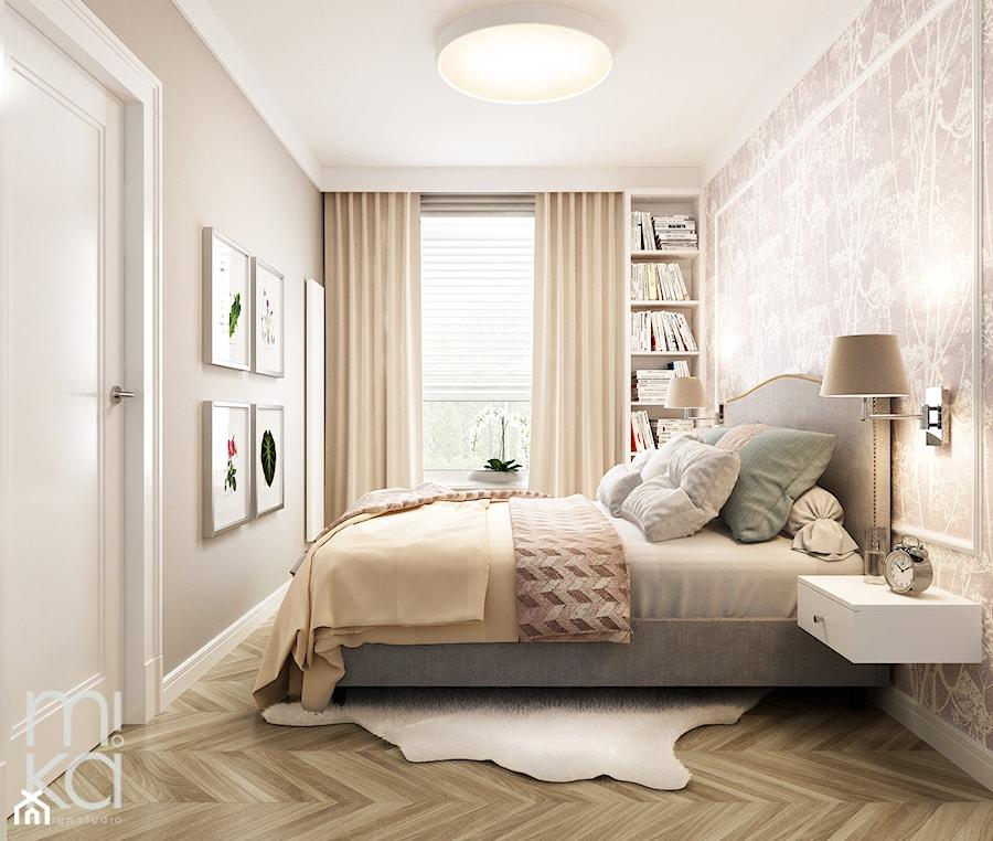 Aranżacje wnętrz - Sypialnia: Stylowo na Woli - Mała kolorowa sypialnia małżeńska, styl eklektyczny - M!kaDesign. Przeglądaj, dodawaj i zapisuj najlepsze zdjęcia, pomysły i inspiracje designerskie. W bazie mamy już prawie milion fotografii!