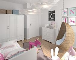 PRZYTULNY EKLEKTYZM - Średni szary pokój dziecka dla dziewczynki dla malucha dla nastolatka, styl eklektyczny - zdjęcie od M!kaDesign