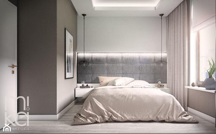 Minimalistyczna Wola - Mała sypialnia małżeńska, styl nowoczesny - zdjęcie od M!kaDesign