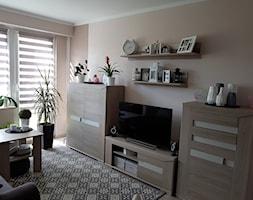 Mieszkanie w wielkiej płycie - spełnione marzenie - Mały beżowy salon, styl skandynawski - zdjęcie od Natalia Greń 2