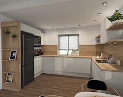 Biała Kuchnia Z Drewnem Projekt Wnętrza Mieszkalnego Leroy