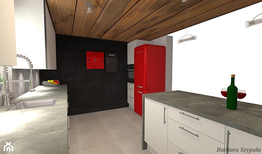 Kuchnia Biały Mat Z Betonem Zdjęcie Od Leroy Merlin Krosno