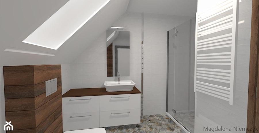 Biel Z Patchworkiem łazienka Styl Eklektyczny Zdjęcie