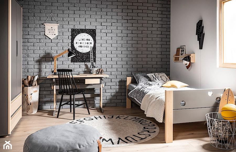 TIPOO - Duży biały czarny pokój dziecka dla chłopca dla ucznia dla nastolatka, styl nowoczesny - zdjęcie od inmondo