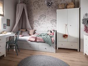 DESSI - Średni biały szary pokój dziecka dla dziewczynki dla ucznia dla malucha dla nastolatka, styl skandynawski - zdjęcie od inmondo