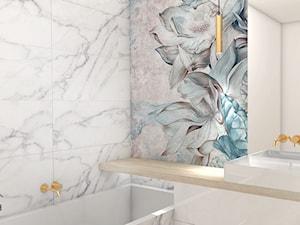 Łazienka Glamour - Średnia łazienka bez okna, styl glamour - zdjęcie od studiopieknychwnetrz