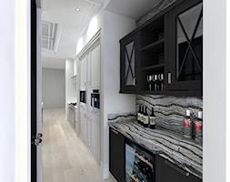 bardzo KLASYCZNIE - Duża otwarta biała kuchnia jednorzędowa w aneksie, styl klasyczny - zdjęcie od PERIHDESIGN - Homebook