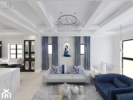 Aranżacje wnętrz - Salon: bardzo KLASYCZNIE - Średni biały salon z kuchnią z jadalnią, styl klasyczny - PERIHDESIGN. Przeglądaj, dodawaj i zapisuj najlepsze zdjęcia, pomysły i inspiracje designerskie. W bazie mamy już prawie milion fotografii!