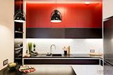 czerwone szafki w kuchni