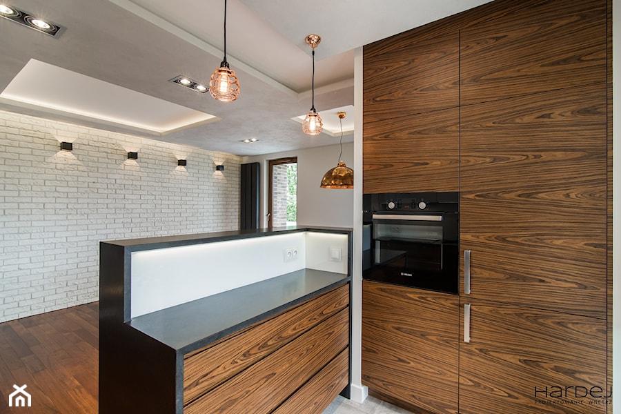 60-metrowe mieszkanie z akcentami loftu - Kuchnia, styl minimalistyczny - zdjęcie od Monika Hardej Architekt