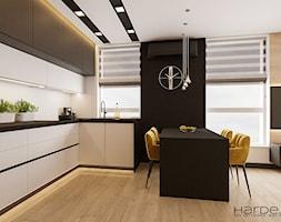 Aneks kuchenny z biało-antracytowymi frontami - zdjęcie od Monika Hardej Architekt - Homebook