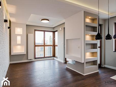 Aranżacje wnętrz - Salon: Mieszkanie w minimalistycznym wydaniu - Salon, styl minimalistyczny - Monika Hardej Architekt. Przeglądaj, dodawaj i zapisuj najlepsze zdjęcia, pomysły i inspiracje designerskie. W bazie mamy już prawie milion fotografii!