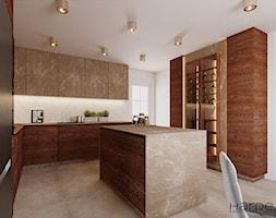 Kuchnia styl nowoczesny fronty dąb bejcowany - zdjęcie od Monika Hardej Architekt - Homebook