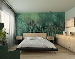 Sypialnia+w+stylu+nowoczesnym+z+tapet%C4%85+-+zdj%C4%99cie+od+Echaust+Design