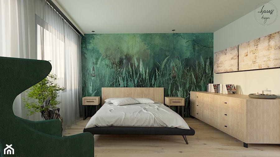 Sypialnia W Stylu Nowoczesnym Z Tapetą Zdjęcie Od Echaust
