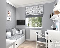 Pokój nastolatki - Średni szary pokój dziecka dla chłopca dla ucznia dla nastolatka, styl klasyczny - zdjęcie od Warsztat Designu