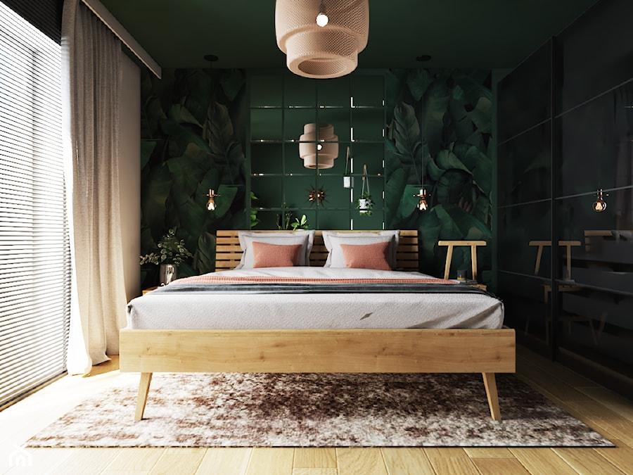 Sypialnia tropikalna - drewniane łóżko - zdjęcie od D. Ko Wnętrza