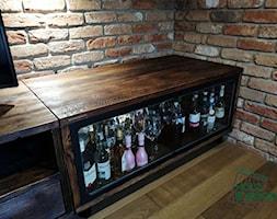 Meble+do+salonu+ze+starego+drewna%2C+stali+i+szk%C5%82a+-+zdj%C4%99cie+od+MANUFAKTURA+HOLZ+%26+WOOD