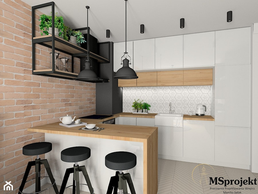 Projekt mieszkania w stylu industrialnym - zdjęcie od MSprojekt