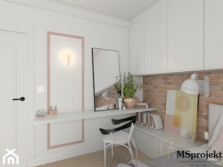 Aranżacje wnętrz - Sypialnia: Projekt mieszkania w stylu industrialnym - MSprojekt. Przeglądaj, dodawaj i zapisuj najlepsze zdjęcia, pomysły i inspiracje designerskie. W bazie mamy już prawie milion fotografii!