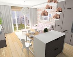 Salon z aneksem kuchennym w Olsztynie - zdjęcie od MSprojekt - Homebook